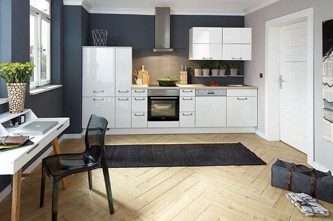 Rechte wit met rode glans keuken - Afbeelding 2 van 2