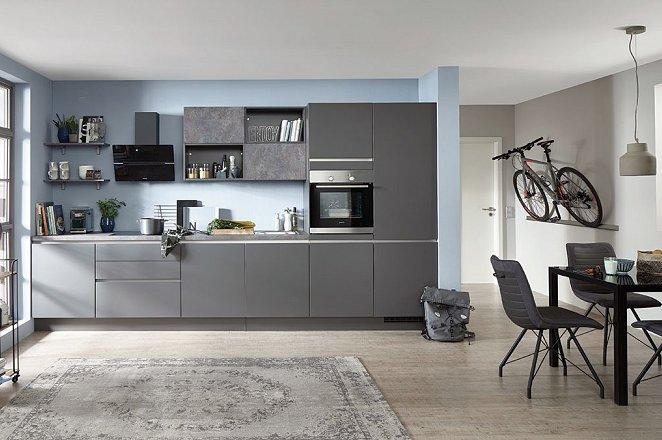 Grijze rechte keuken - Afbeelding 1 van 1