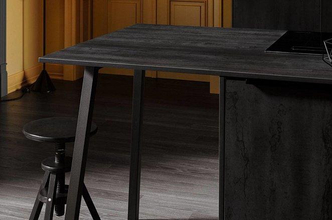 Zwarte keuken met spoeleiland - Afbeelding 9 van 10