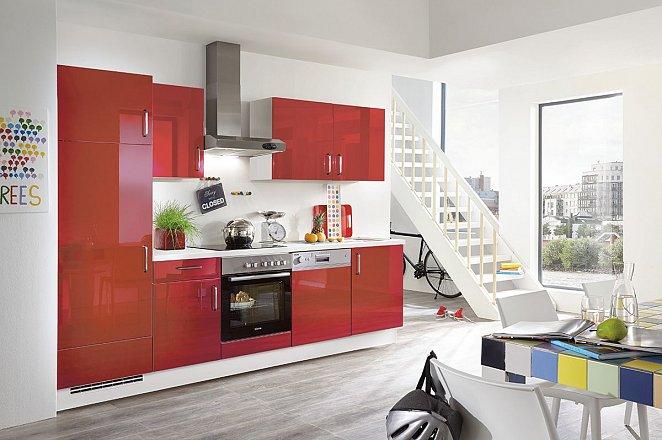Rood glanzende rechte keuken - Afbeelding 3 van 3