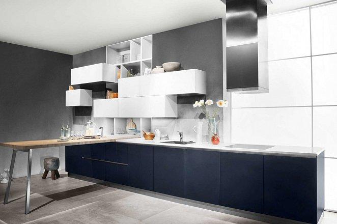 Blauwe rechte keuken - Afbeelding 1 van 1