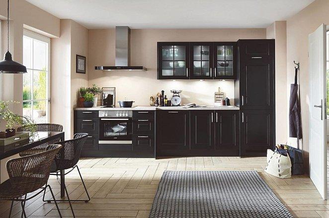 Zwarte rechte keuken - Afbeelding 1 van 1