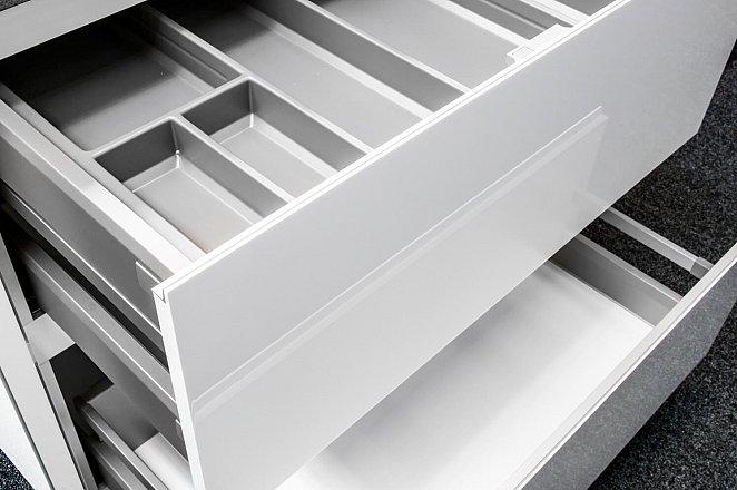 Eiland keuken in wit hoogglans lak/eiken basalt - Afbeelding 5 van 10