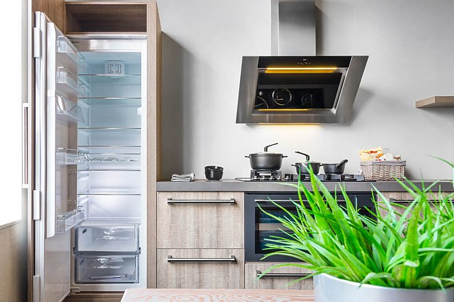 Rechte keuken in houtdecor - Afbeelding 5 van 7