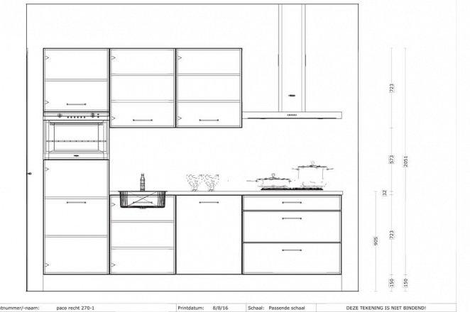 Rechte keuken in hoogglans wit - Afbeelding 2 van 3