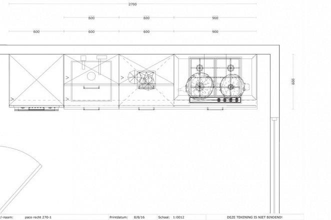 Rechte keuken in hoogglans wit - Afbeelding 3 van 3