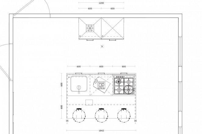 Eilandkeuken met kastenwand in hoogglans wit - Afbeelding 3 van 4