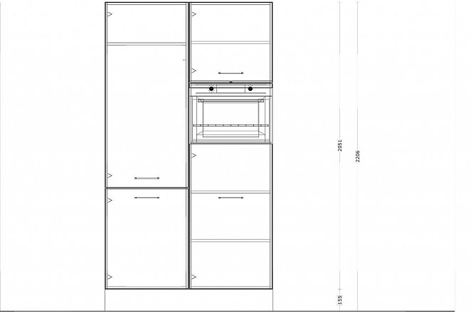 Eilandkeuken met kastenwand in hoogglans wit - Afbeelding 2 van 4
