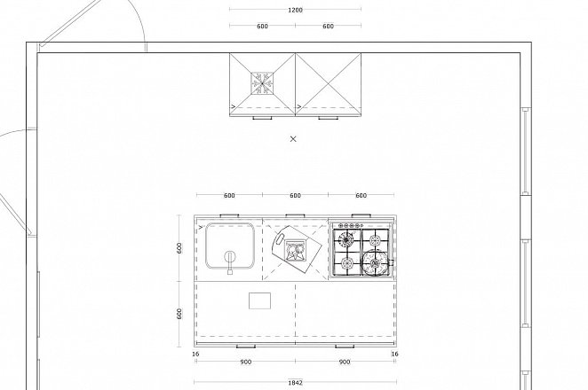 Eilandkeuken met kastenwand in hoogglans wit - Afbeelding 5 van 5