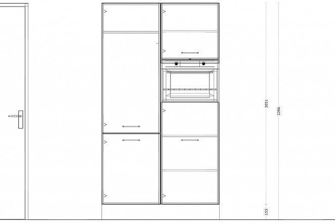 Eilandkeuken met kastenwand in hoogglans wit - Afbeelding 2 van 5