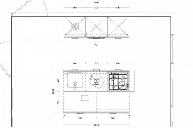 Eilandkeuken met kastenwand in hoogglans wit - Afbeelding 3 van 5