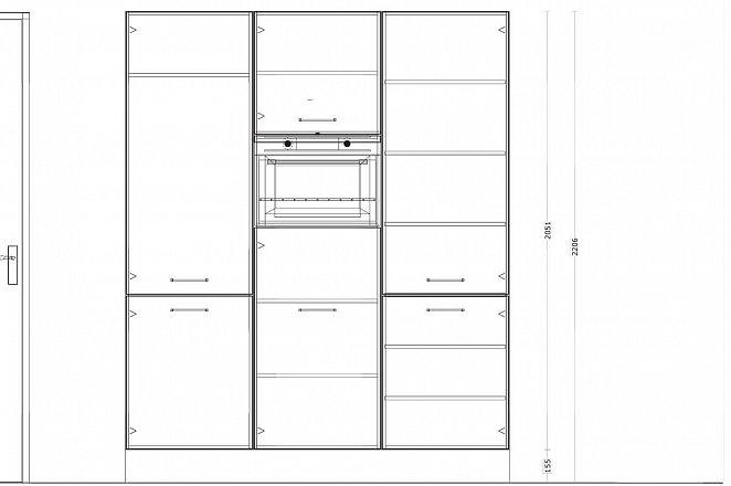 Eilandkeuken met kastenwand in hoogglans wit - Afbeelding 4 van 5