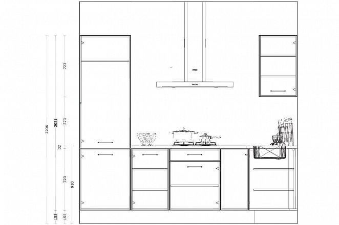 Hoekkeuken in hoogglans wit - Afbeelding 3 van 4