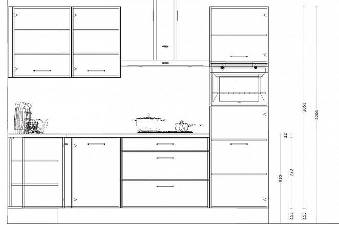 Hoekkeuken in hoogglans wit - Afbeelding 2 van 4