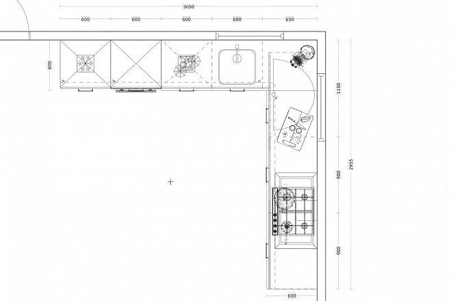 Hoekkeuken in hoogglans wit - Afbeelding 4 van 4