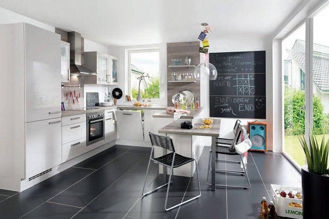 Witte hoogglans gelakte keuken in U-opstelling  - Afbeelding 1 van 1