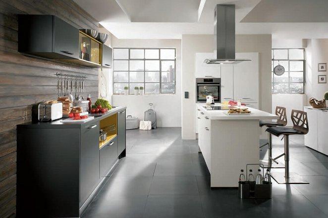 Designkeuken met kookeiland en inbouwkasten module - Afbeelding 2 van 2