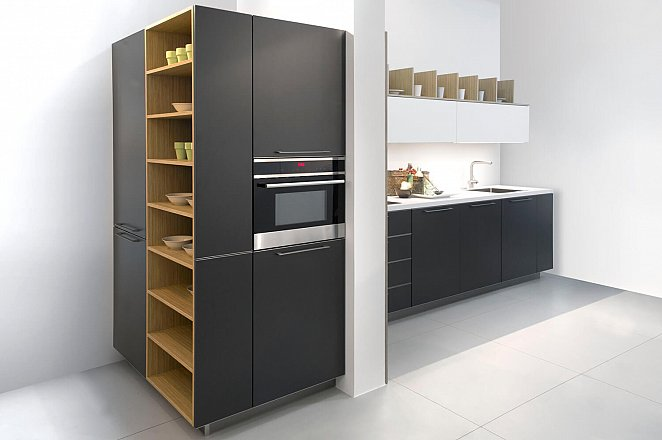Rechte keuken met vierkante kastenmodule - Afbeelding 1 van 2