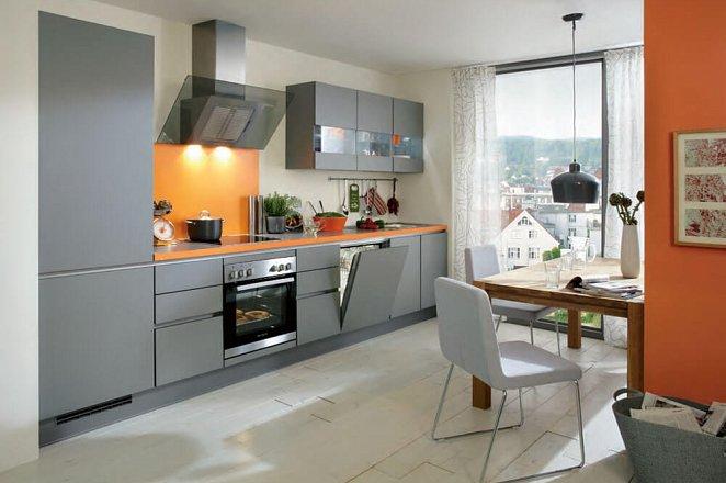 Greeploze keuken met glasdesign wandkasten - Afbeelding 1 van 1