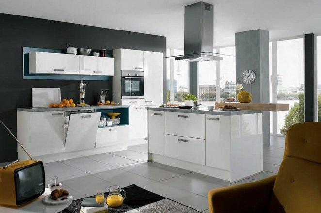 Strakke design keuken met kookeiland - Afbeelding 2 van 2