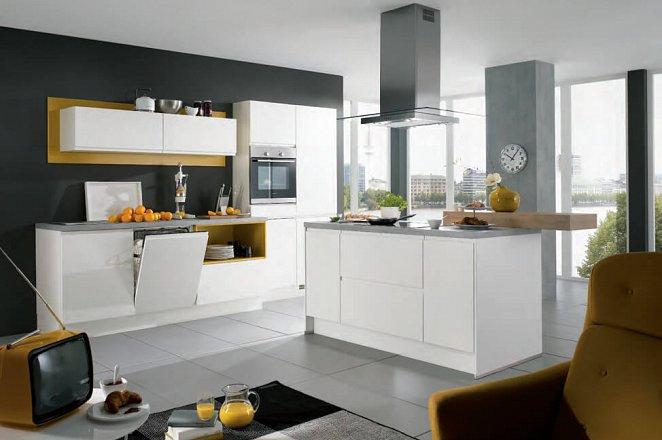 Strakke design keuken met kookeiland - Afbeelding 1 van 2
