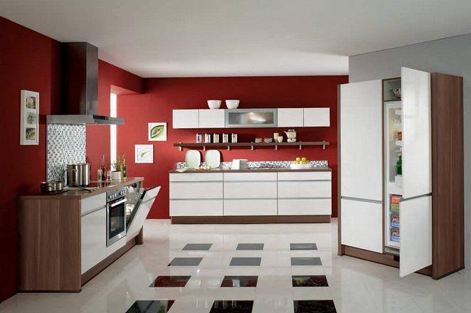 Moderne greeploze keuken met houtaccenten  - Afbeelding 1 van 1
