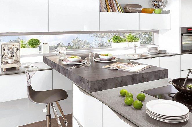 Moderne keuken in T-opstelling - Afbeelding 1 van 1