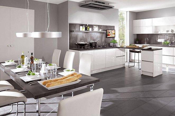Strakke greeploze keuken in hoogglans wit   keukens op maat ...