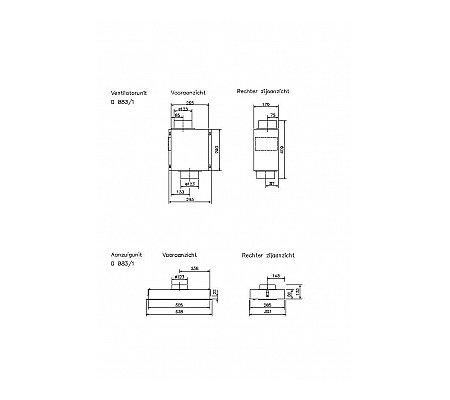 D883 NOVY Inbouwunit (externe motor)