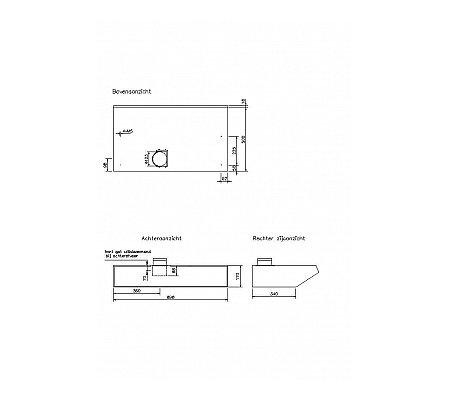 D939 NOVY Onderbouw afzuigkap