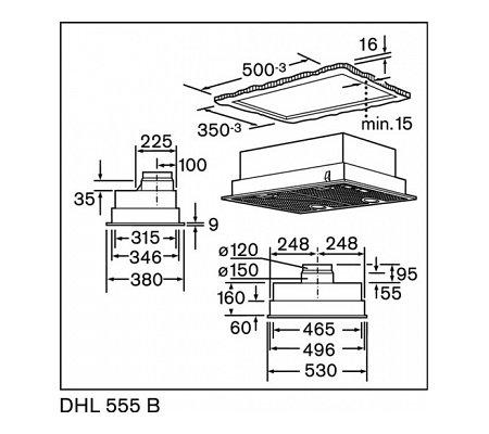 DHL555B BOSCH Inbouwunit afzuigkap