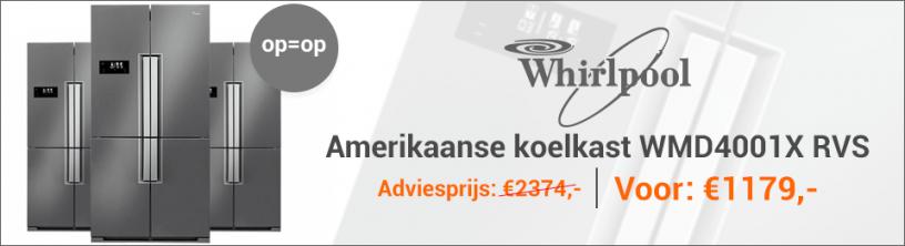 WHIRLPOOL WMD4001XSide By Side koelkast