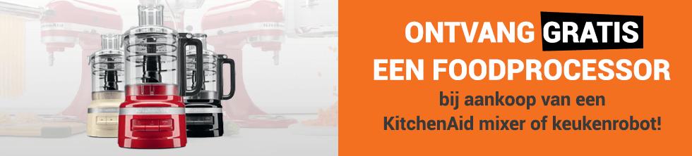 Ontvang gratis een foodprocessor bij aankoop van een KitchenAid mixer of keukenrobot!