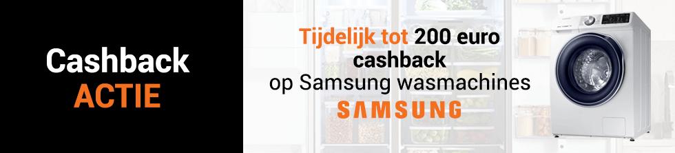 Tot 200 euro cashback op Samsung wasmachines en was-droogcombinaties